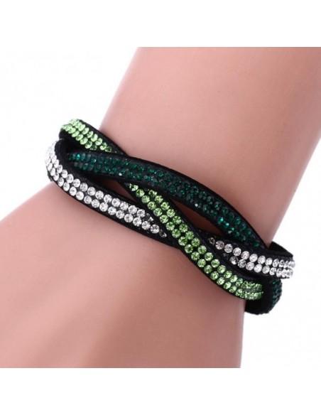 Bracelet Cuir et Strass