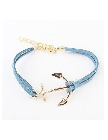 Bracelet Ancre en Cuir