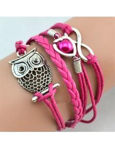 Bracelet Cuir avec Plusieurs Motifs