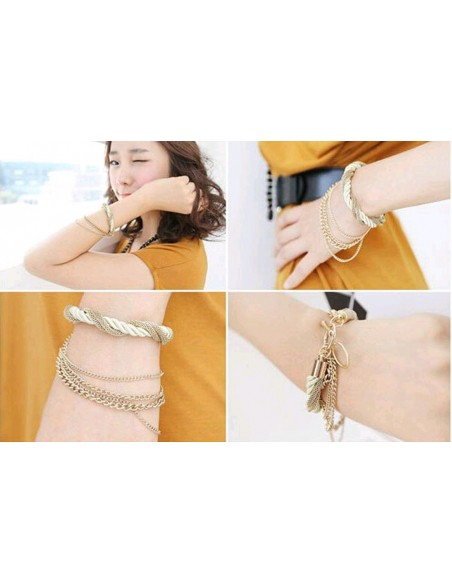 Rope and Chains Bracelet