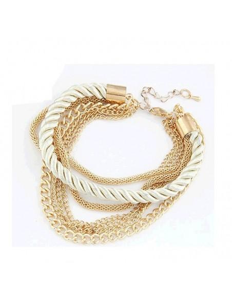 Bracelet Corde et Chaînes