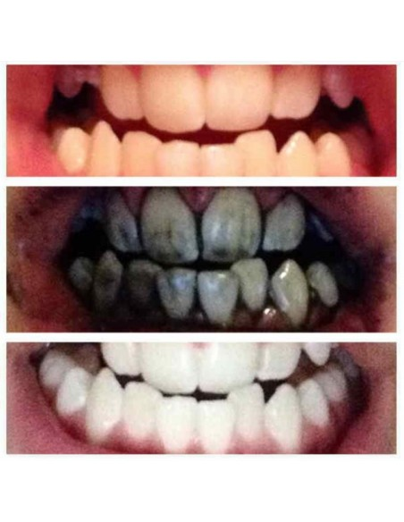 Whitening toothpaste with natural bamboo charcoal
