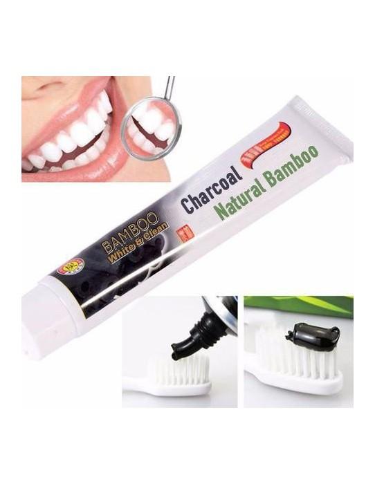 Dentifrice Blancheur au charbon de bambou naturel