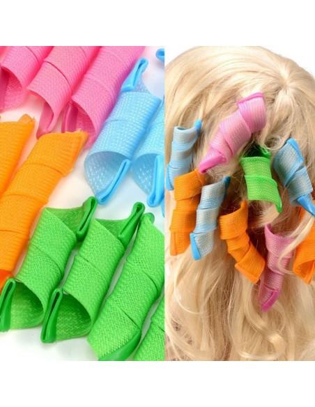 18Pcs x 1 - Spiral Twist Wand With 2 Stick Hair Hooks