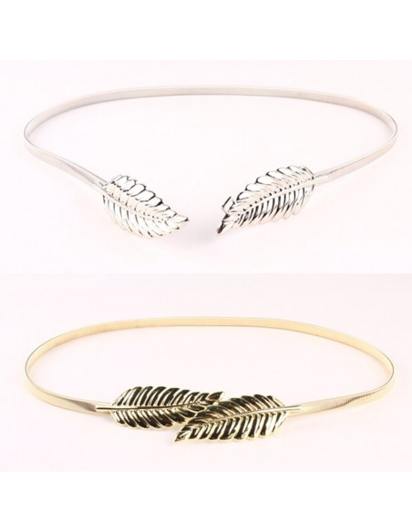 Metal Feather Belt