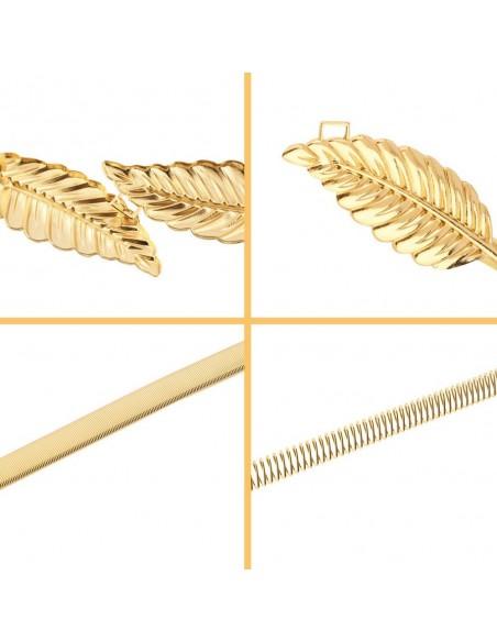 Cinturón de plumas de metal