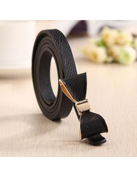 Ceinture cuir avec noeud