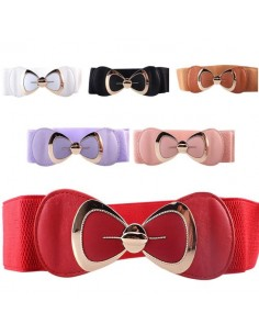Elastic belt with bow
