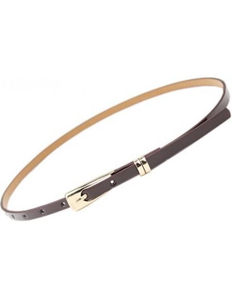 Fine leather belt