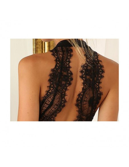 Lace Backless Dress