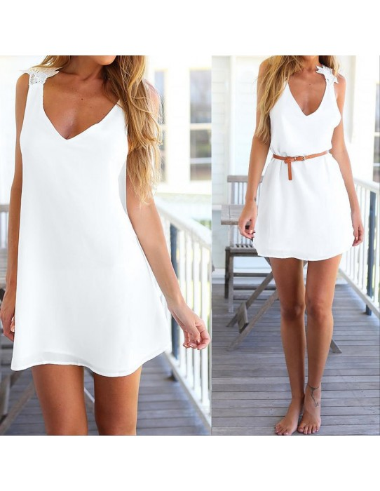 Dress with a halter top