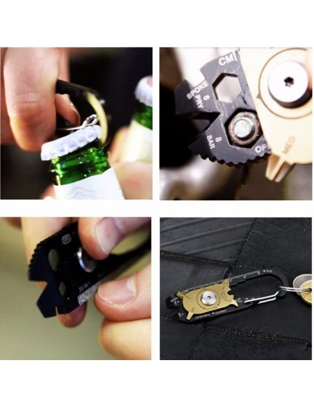 Mosquetón de bolsillo - 20 herramientas en una!