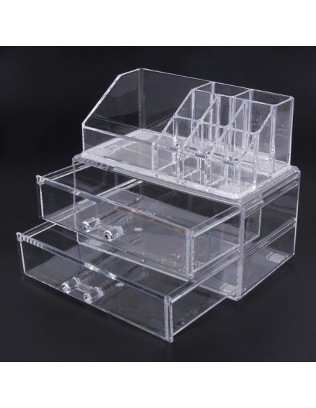 Cosmetic Storage 2 Drawers and 8 Compartments