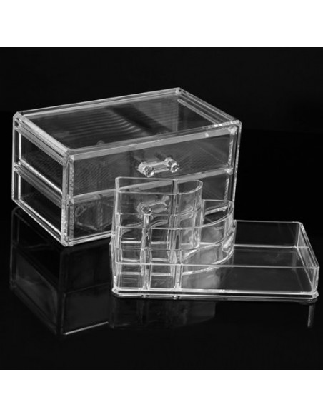 Cosmetic Storage 2 Drawers and 7 Compartments
