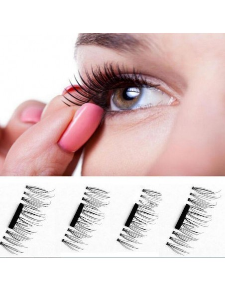 False magnetic eyelashes