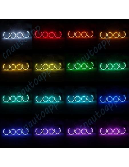 Angel Eyes kit 4x anneaux LED sans fil Bluetooth pour BMW E90