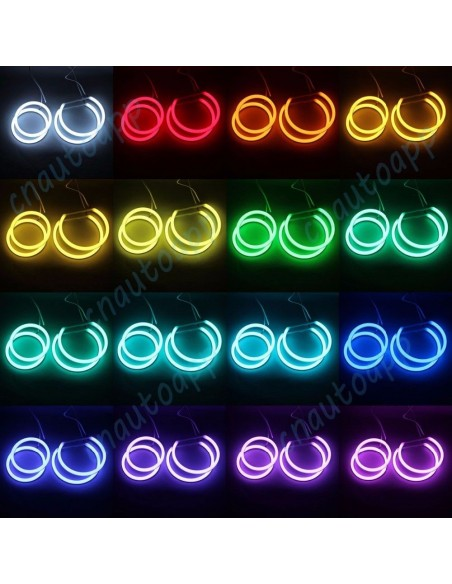 Kit Angel Eyes 4x anillos inalámbricos Bluetooth LED para BMW E90