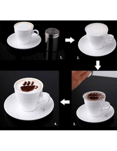 Chocolate Shaker and its 16 stencils