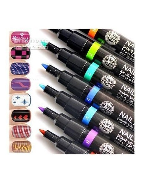 Pluma de esmalte de uñas Nail Art Pen
