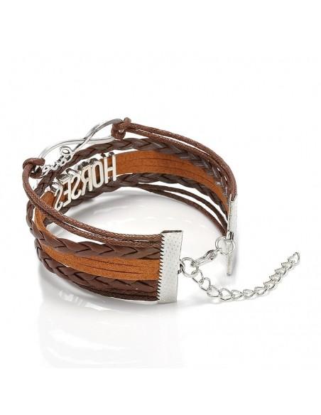 Bracelet cuir cheval