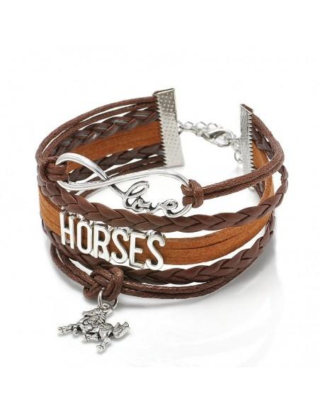 Pulsera de cuero de caballo