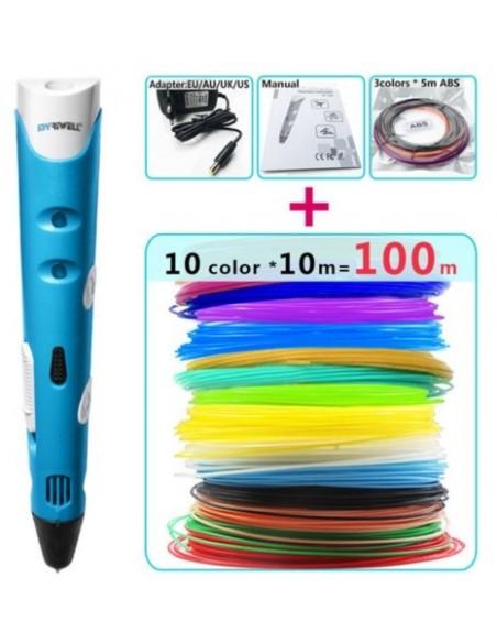 3D pen + Pack of 100 m of color reels