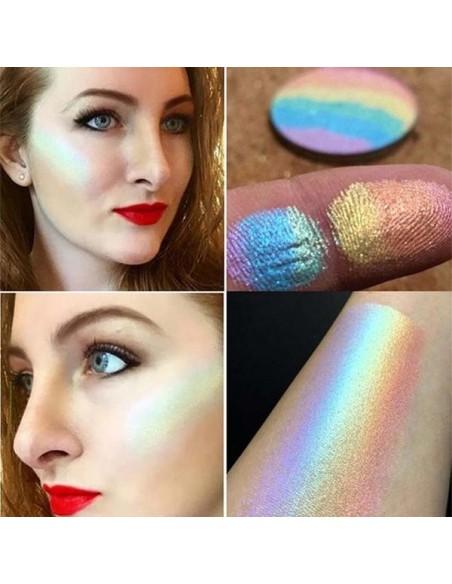 Resaltador del arco iris: El iluminador de la tez del arco iris