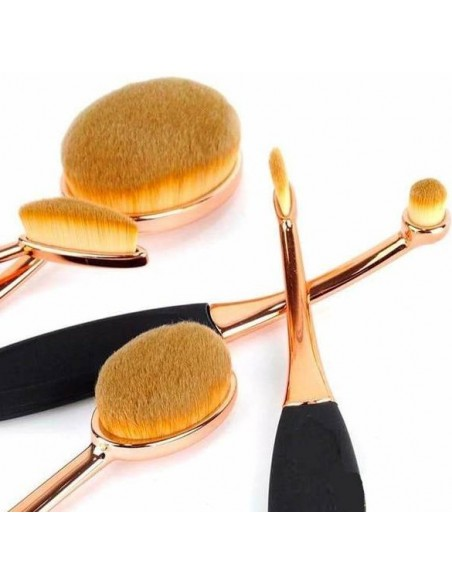 Kit 5 Maquillaje Pinceles Pro