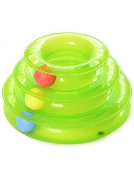 Torre de gato en espiral de juguete