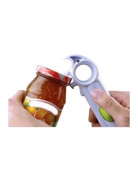 Herramienta 5 en 1 para abrir productos enlatados, botellas, latas.