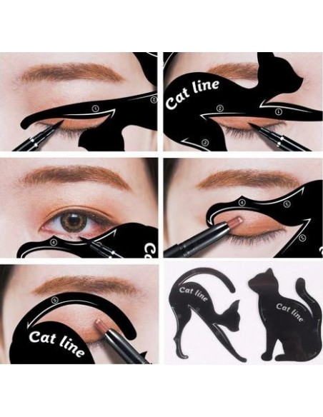 Plantilla para delineador de ojos en forma de gato