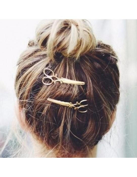 Vintage scissors hair brooch