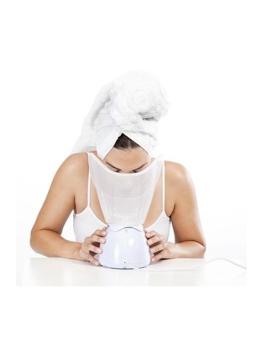 Sauna facial para piel limpia y profunda.