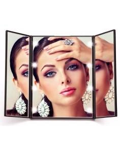 Miroir de voyage portatif Led avec support