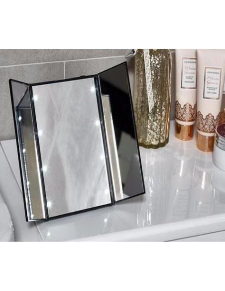 Led espejo portátil de viaje con soporte