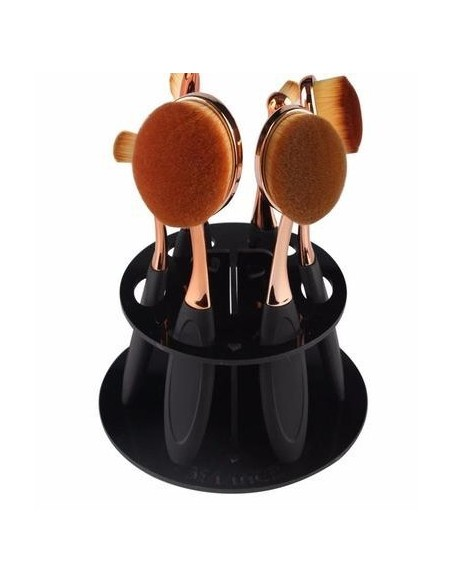 Round stand for makeup brushes