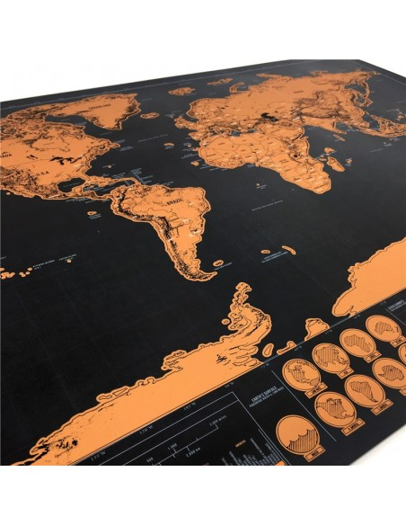 Map of the world to scratch