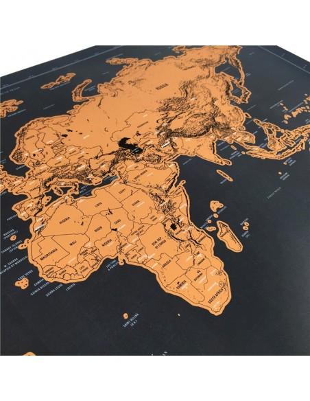 Mapa del mundo a rascar