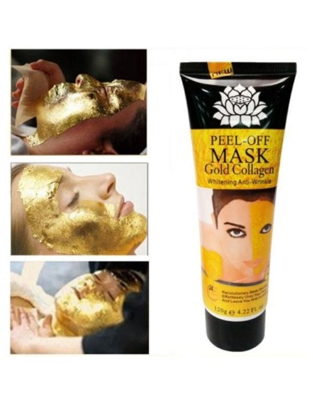 Golden mask for the face