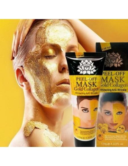 Masque doré pour le visage