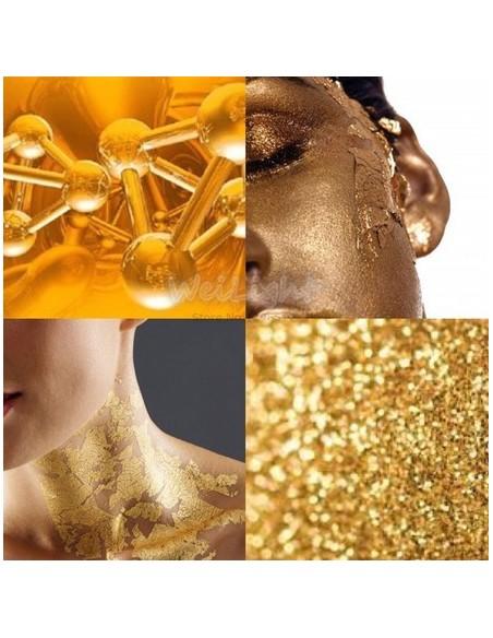 Mascara dorada para la cara