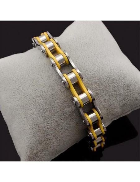 Bracelet chaîne moto