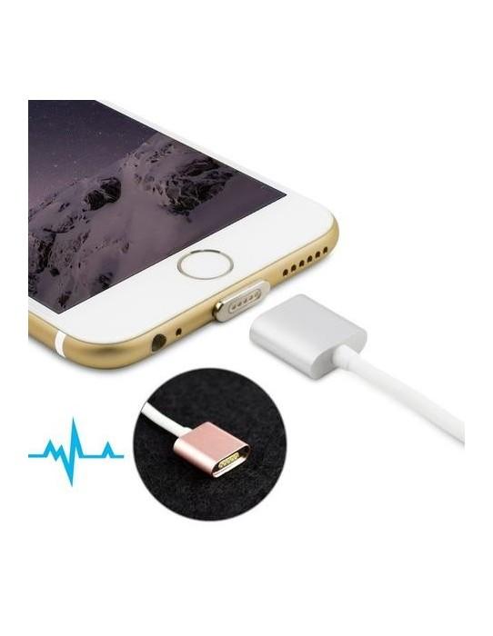 Cable cargador magnético para iPhone y Android