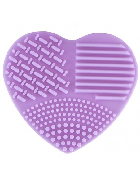 Brush cleaning glove in the shape of a heart