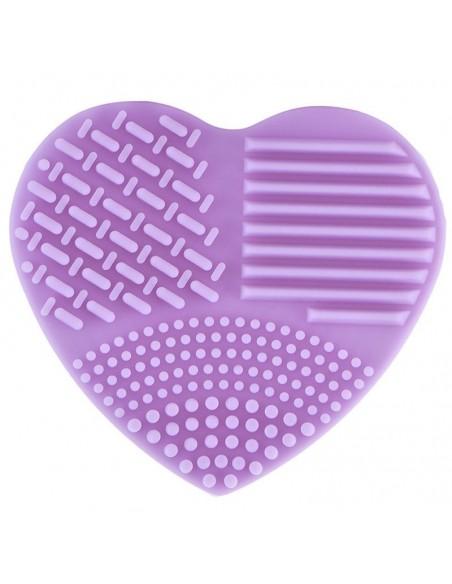 Gant de nettoyage de pinceaux en forme de coeur