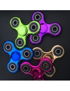 Spinner de mano metalizado