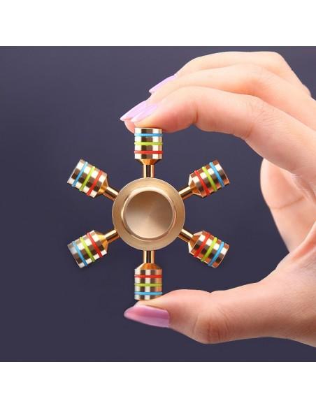 Spinner de mano con 6 cabezas