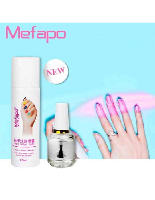 Aerosol nail polish