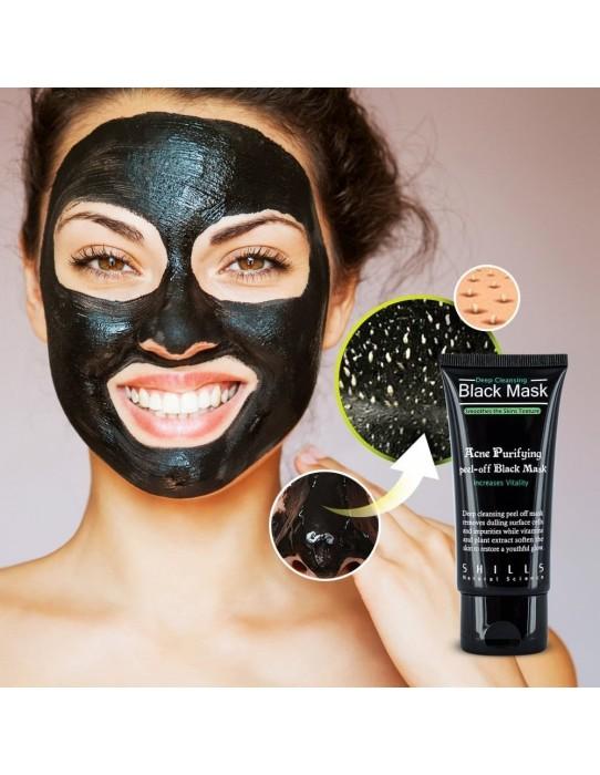 Masque Visage au charbon anti points noirs 50ml