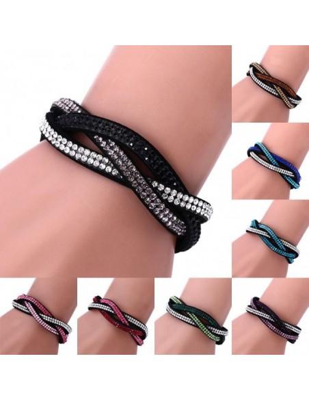 Leather Strass Bracelet